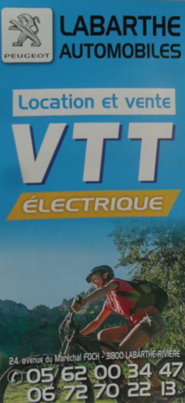 Location / vente de VTT électrique